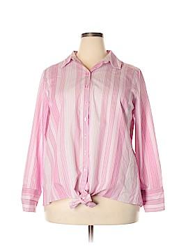 Roaman's Long Sleeve Button-Down Shirt Size 20W (Plus)