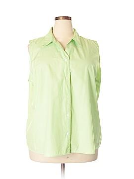 A.L.C. Sleeveless Button-Down Shirt Size 3X (Plus)