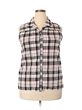 White Stag Sleeveless Button-Down Shirt Size 20 (Plus)