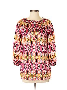 Tory Burch 3/4 Sleeve Silk Top Size 6