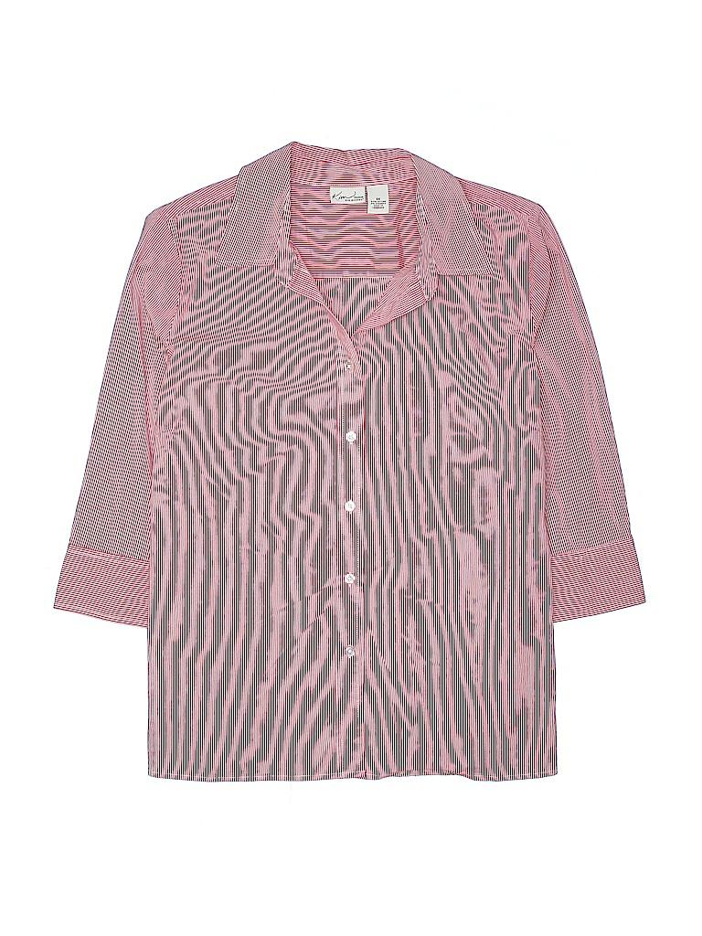 Kim Rogers Women 3/4 Sleeve Button-Down Shirt Size 1X (Plus)