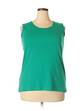 Allison Daley Sleeveless T-Shirt Size 1X (Plus)