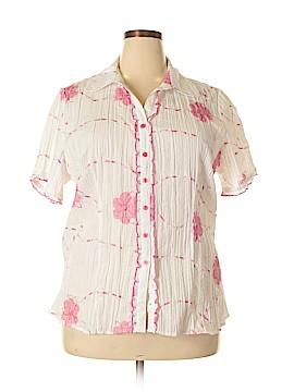 VS Sport Short Sleeve Button-Down Shirt Size 2X (Plus)