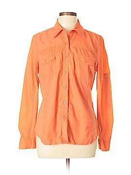 Jones New York Sport Long Sleeve Button-Down Shirt Size L