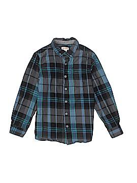 Cat & Jack Long Sleeve Button-Down Shirt Size Small kids 6/7
