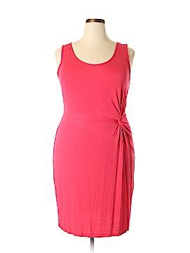 Aqua Blues Casual Dress Size 2X (Plus)