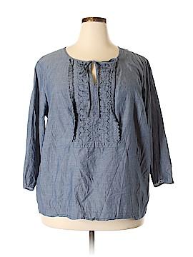 PREMISE 3/4 Sleeve Blouse Size 3X (Plus)