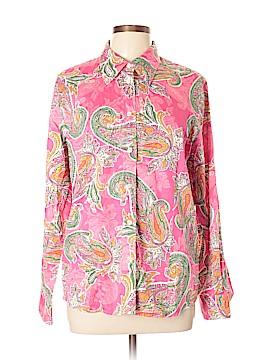Jones New York Signature Long Sleeve Button-Down Shirt Size XL