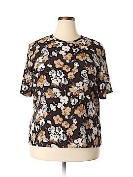 Karen Scott Short Sleeve Blouse Size XL
