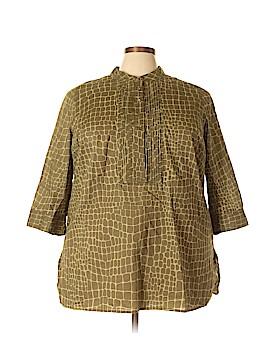 Isaac Mizrahi LIVE! 3/4 Sleeve Button-Down Shirt Size 2X (Plus)