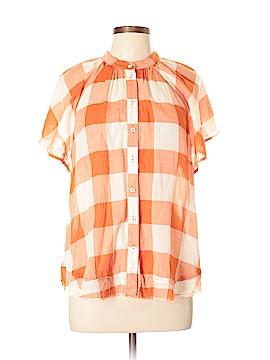 Maeve Short Sleeve Button-Down Shirt Size L (Petite)