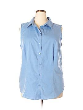 Talbots Outlet Sleeveless Button-Down Shirt Size 2X (Plus)