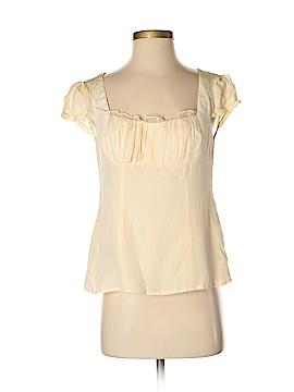 Nanette Lepore Short Sleeve Silk Top Size 4