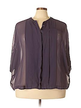 Lane Bryant 3/4 Sleeve Blouse Size 22 (Plus)