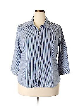 Christopher & Banks 3/4 Sleeve Button-Down Shirt Size XXL (Petite)