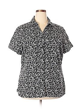 Kim Rogers Short Sleeve Button-Down Shirt Size 2X (Plus)