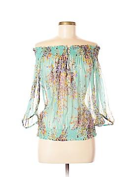 Zara Basic 3/4 Sleeve Silk Top Size L