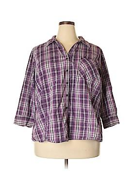St. John's Bay 3/4 Sleeve Button-Down Shirt Size 4X (Plus)