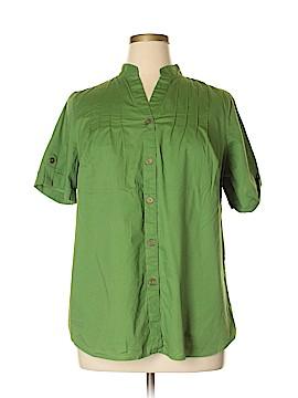 Autograph Short Sleeve Button-Down Shirt Size 1X (Plus)