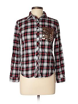 E2 Clothing Long Sleeve Button-Down Shirt Size L