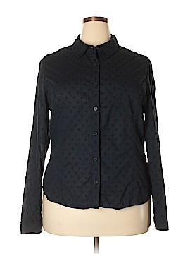 Jones New York Long Sleeve Button-Down Shirt Size XXL