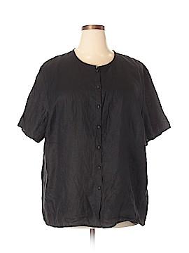 Eileen Fisher Short Sleeve Button-Down Shirt Size 3X (Plus)