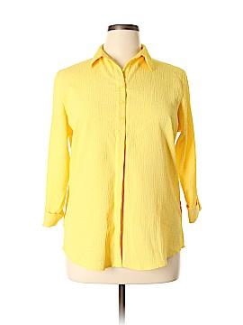 Alia 3/4 Sleeve Button-Down Shirt Size 14