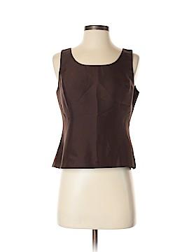 Kasper A.S.L. Sleeveless Silk Top Size 8 (Petite)