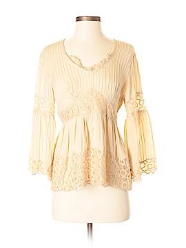 INC International Concepts 3/4 Sleeve Silk Top Size 8 (Petite)