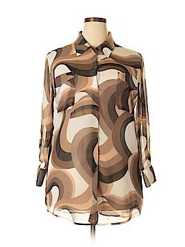 Travelsmith 3/4 Sleeve Blouse Size L (Petite)