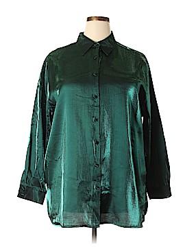 Karen Scott II Long Sleeve Blouse Size 2X (Plus)