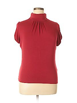 August Silk Short Sleeve Top Size XL