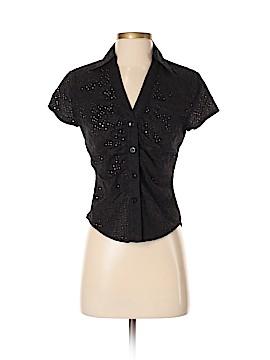 Donna Degnan Short Sleeve Button-Down Shirt Size 4