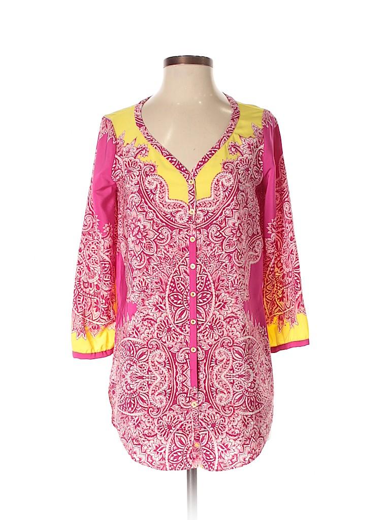 Yoana Baraschi Women 3/4 Sleeve Blouse Size S