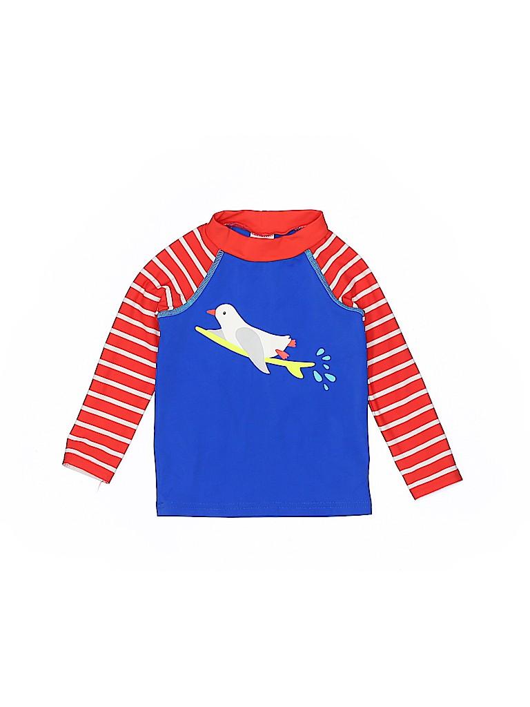 f8ad35cef Baby Boden Stripes Graphic Dark Blue Rash Guard Size 6-12 mo - 50 ...