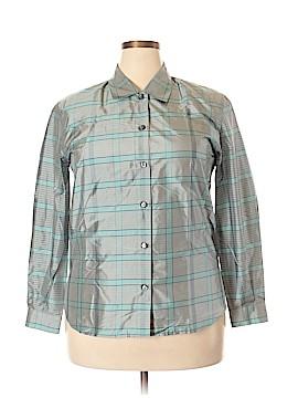 Carlisle Long Sleeve Silk Top Size 14