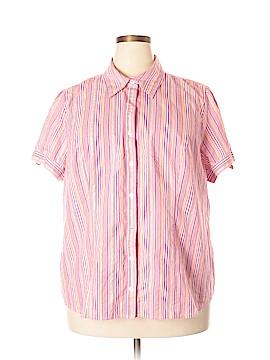Fashion Bug Short Sleeve Button-Down Shirt Size 2X (Plus)