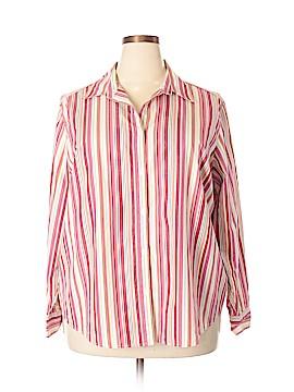 Statements 3/4 Sleeve Button-Down Shirt Size 22 (Plus)