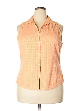 Columbia Sleeveless Button-Down Shirt Size 1X (Plus)