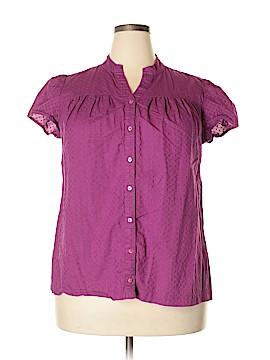 A.n.a. A New Approach Short Sleeve Button-Down Shirt Size 1X (Plus)