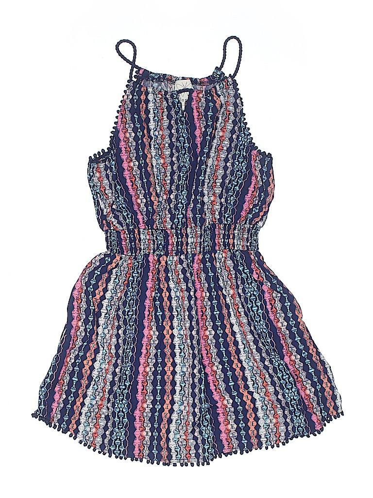 692b366dfd65 Ella Moss 100% Rayon Print Navy Blue Dress Size 10 - 91% off
