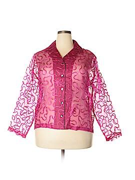 Mirasol Long Sleeve Silk Top Size XL