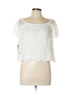Haute Monde Short Sleeve Blouse Size M