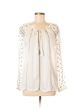 Love Stitch Long Sleeve Button-Down Shirt Size M
