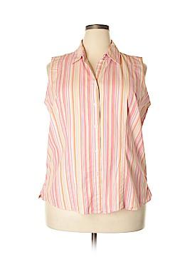 St. John's Bay Sleeveless Button-Down Shirt Size 1X (Plus)