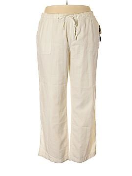 Gloria Vanderbilt Linen Pants Size 1X (Plus)