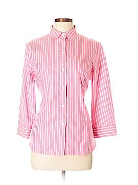Jones New York Signature 3/4 Sleeve Button-Down Shirt Size L