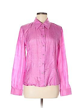 ABS Allen Schwartz Long Sleeve Silk Top Size L