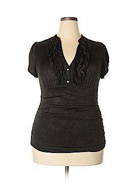 Heart Soul Short Sleeve Blouse Size 1X (Plus)