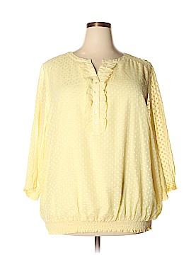 Cj Banks 3/4 Sleeve Blouse Size 3X (Plus)